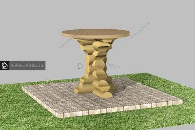стол из бревна М-4