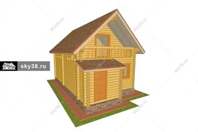 Дом из ОЦБ Д-2-86-220