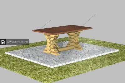 Мебель из бревна М-2