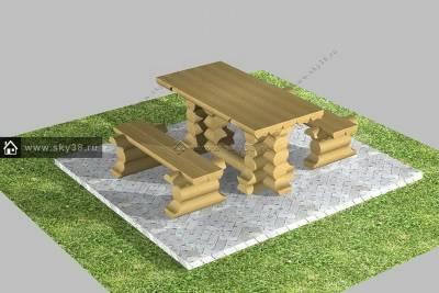 Мебель из бревна М-1