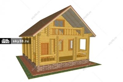 Баня-гостевой дом БД-2-107