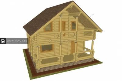 Дом Д-2-108-220 эскизный проект
