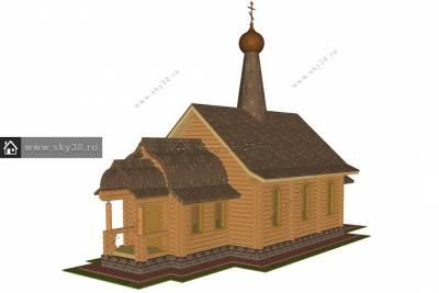 Церковь из бревна МАФ-110